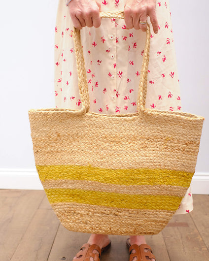 H Basket bag in yellow