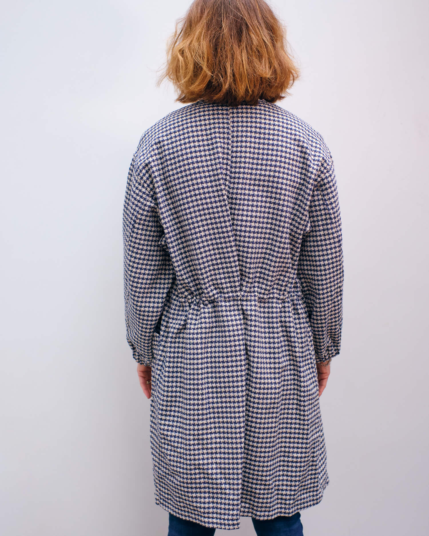 BR Harvey coat in blue check