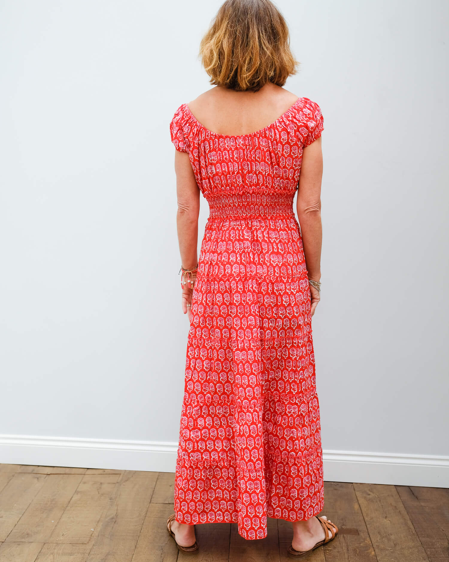 PCP Rah rah long dress in ruby daisy
