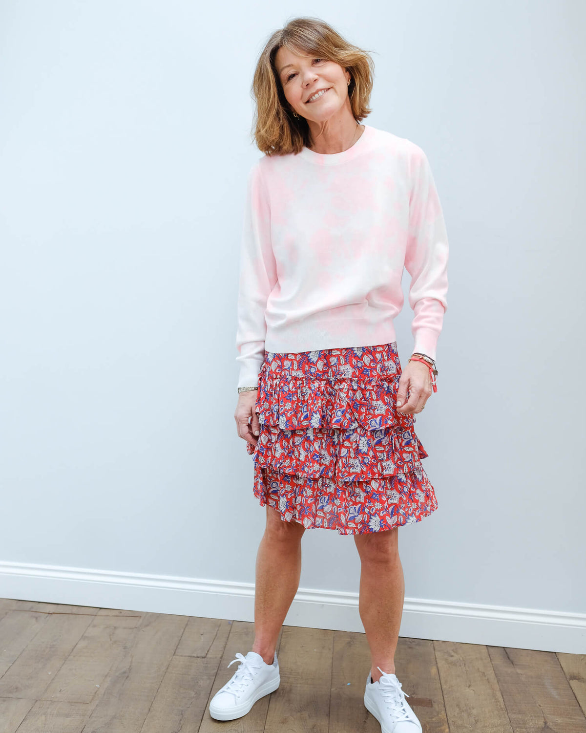 EA Verneuil tie dye sweater in pink