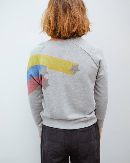 JU Shooting star sweat in grey