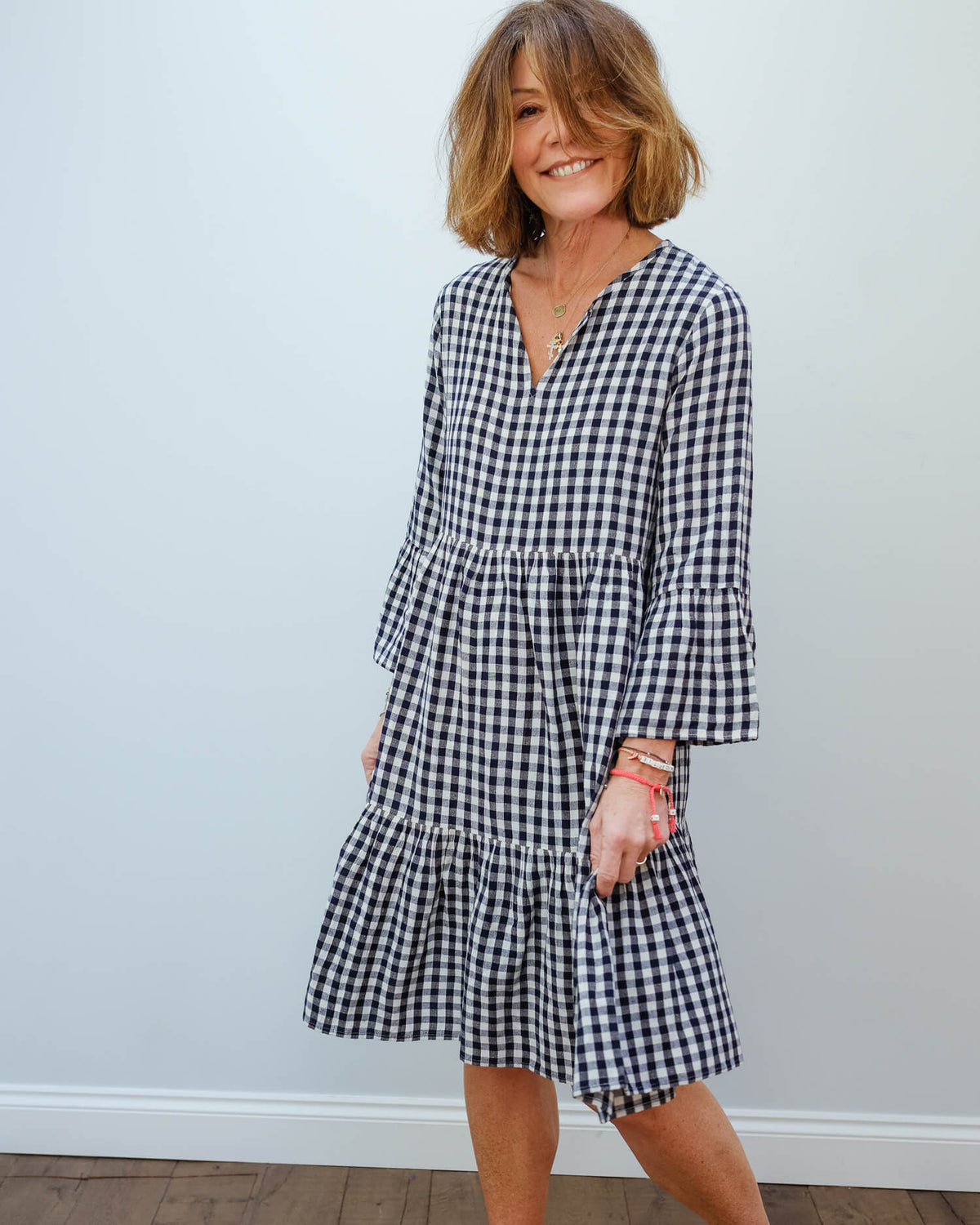 H Rain dress in navy