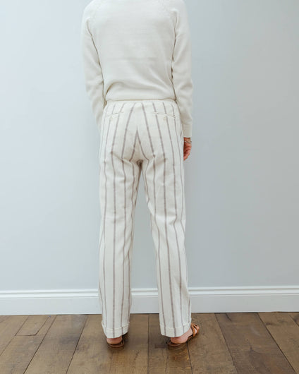 H Party trousers in terracotta stripes