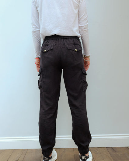 L&H Parker trousers in carbon