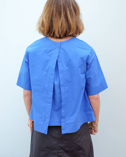 LOR Opal poplin shirt in soft blue