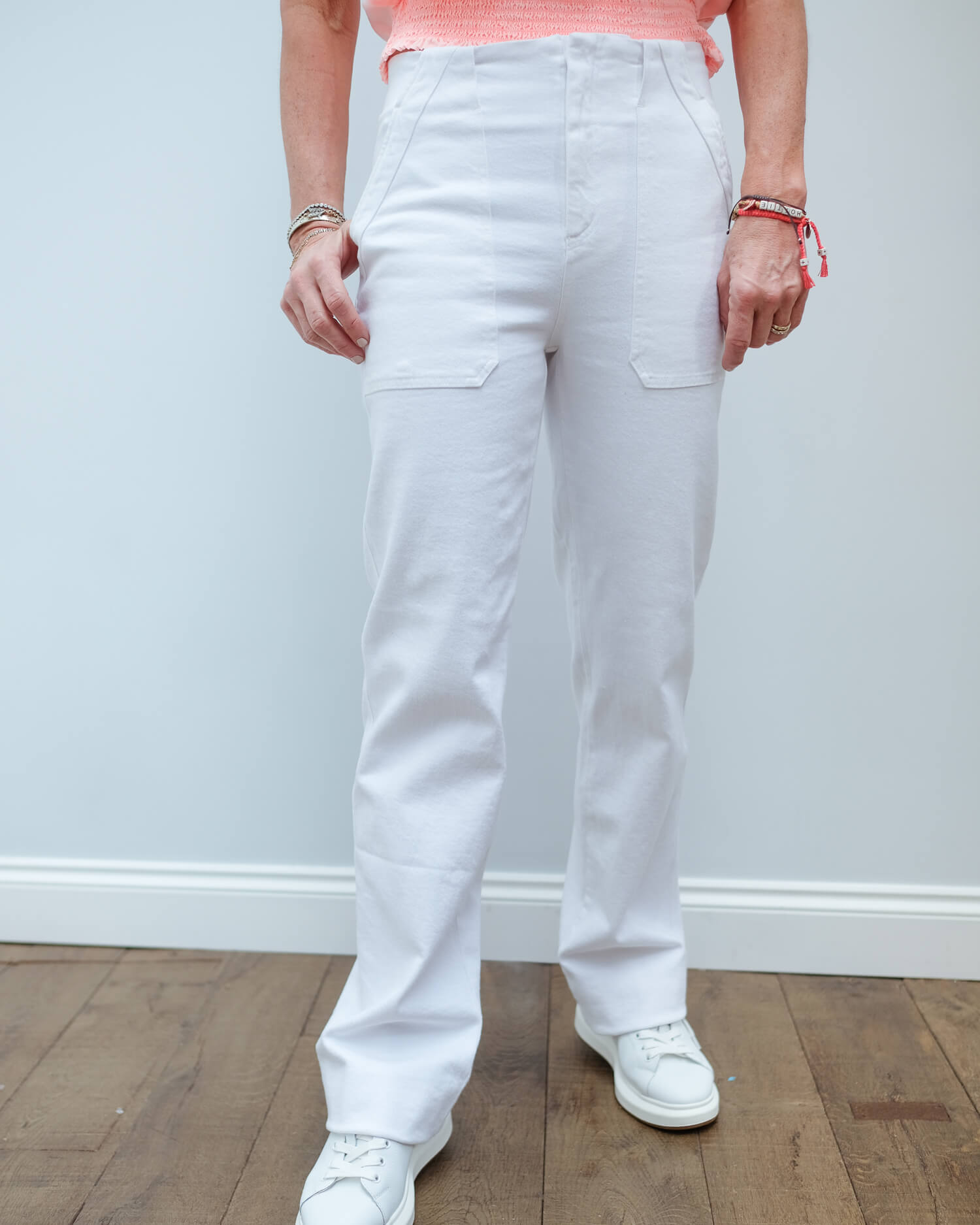 LOR Barria comfort denim in white