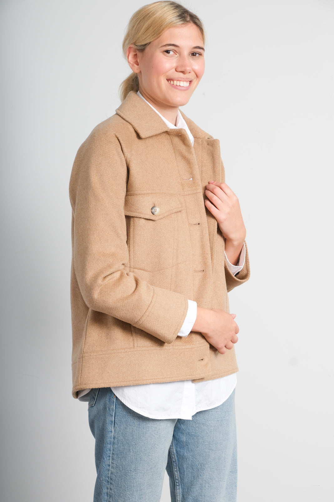 SLF Maddy wool jacket in tigers eye