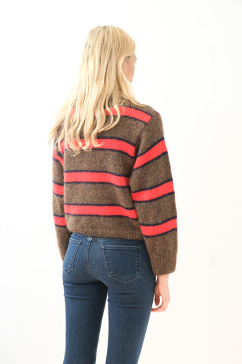 LOR Franja stripe knit in toffee