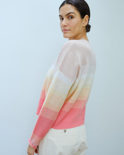 360 Russet knit in papaya, honey, pink ombre