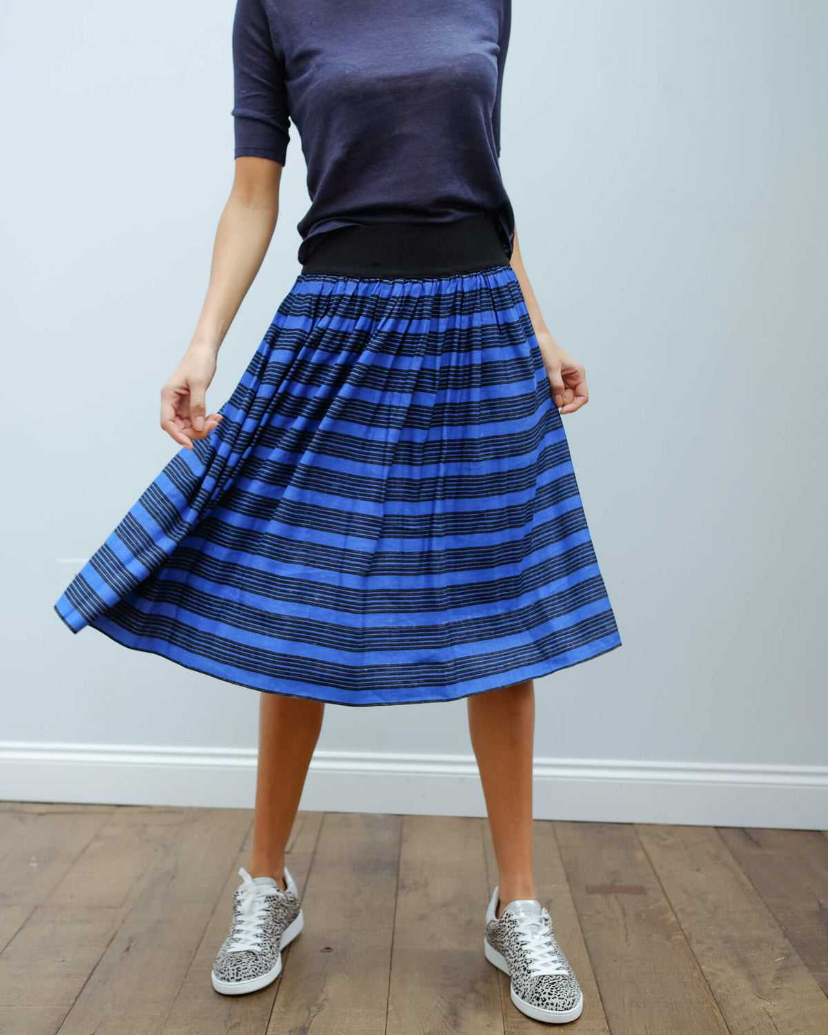 BR Vuai skirt in blue stripe