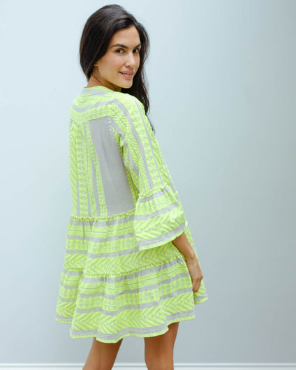 D 194 Short Ella dress in lime