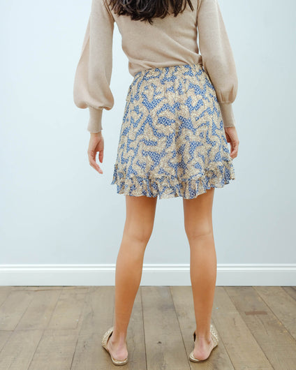 SEC.F Widly short skirt in creme de peche