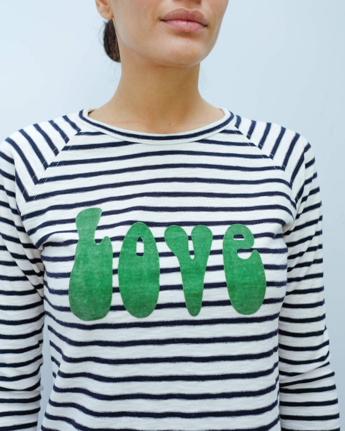FIVE Love LS tee in emerald