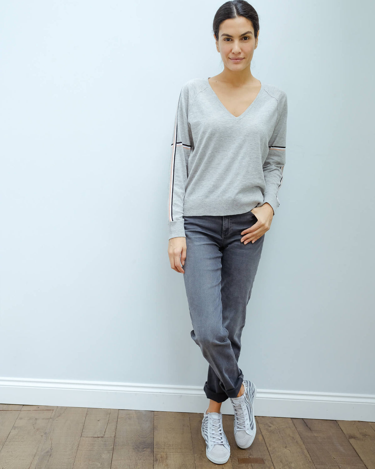 360 Maisie knit in grey