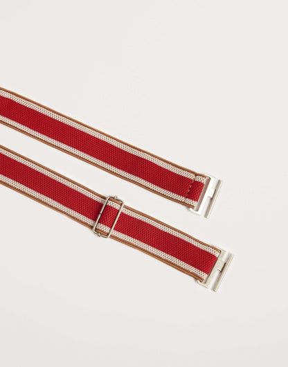 BR Shiba stripe belt in red