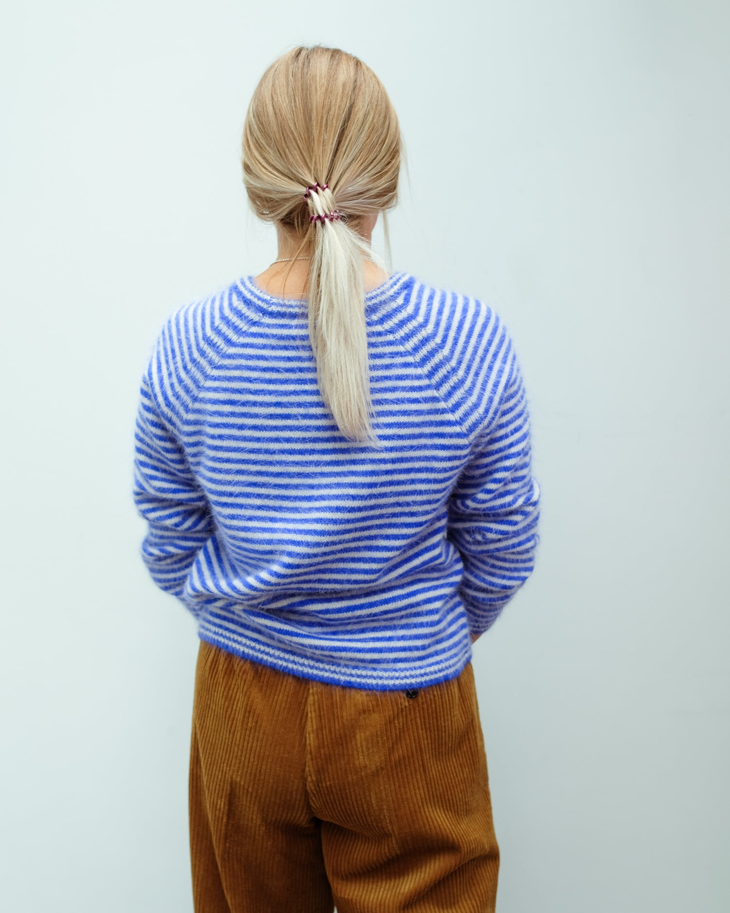BR Datie stripe knit in blue