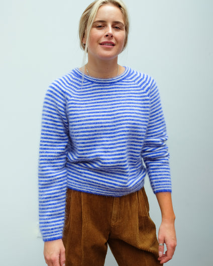 BR Datti Stripe Knit in Blue