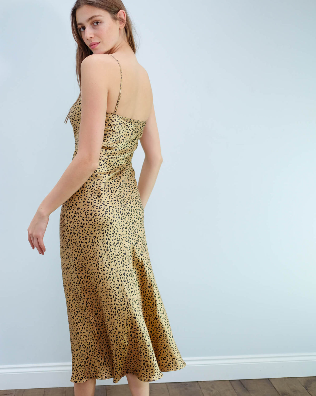 RIXO Holly cami dress in leopard