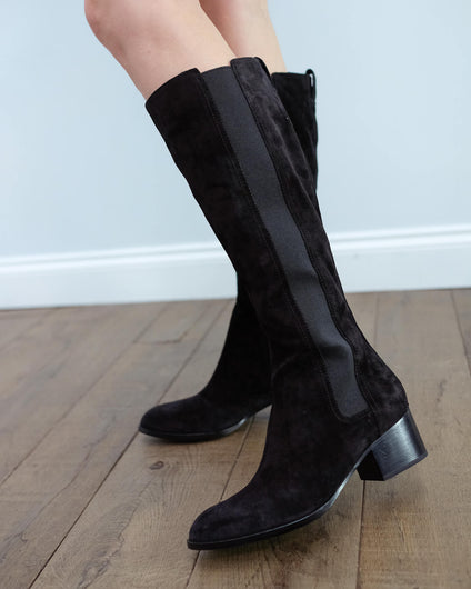 R&B Walker Tall boot in black