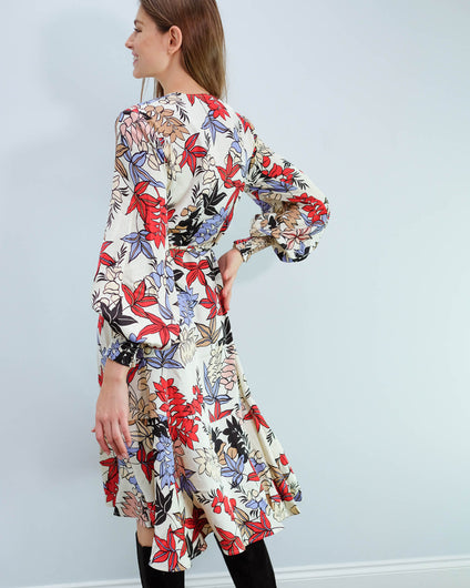 M Jamie floral dress in ivory