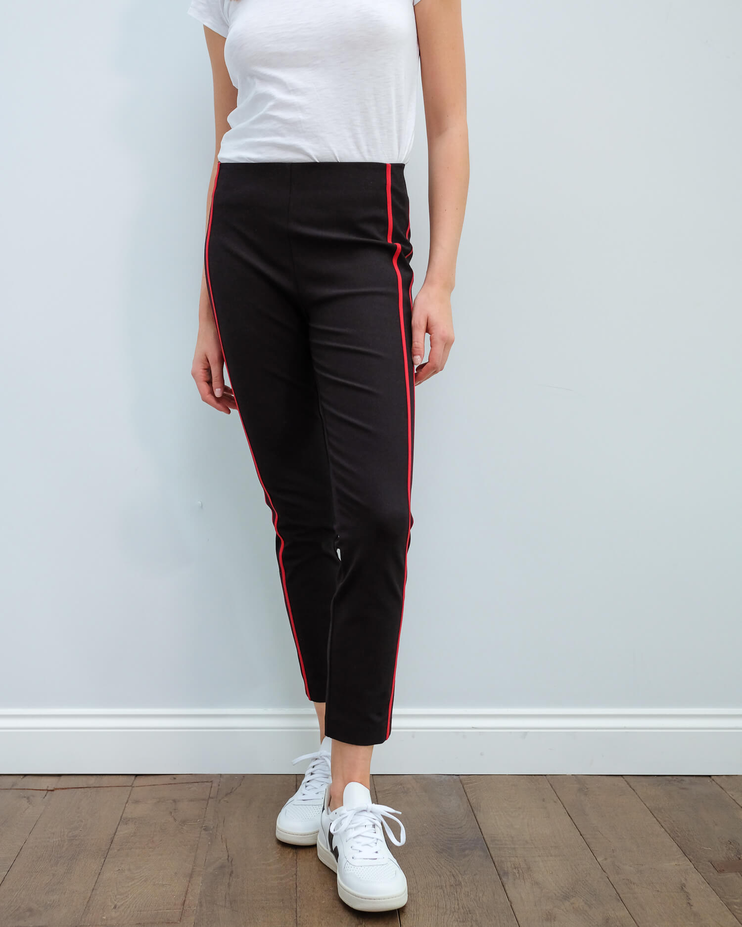 R&B Simone side panel pant in black