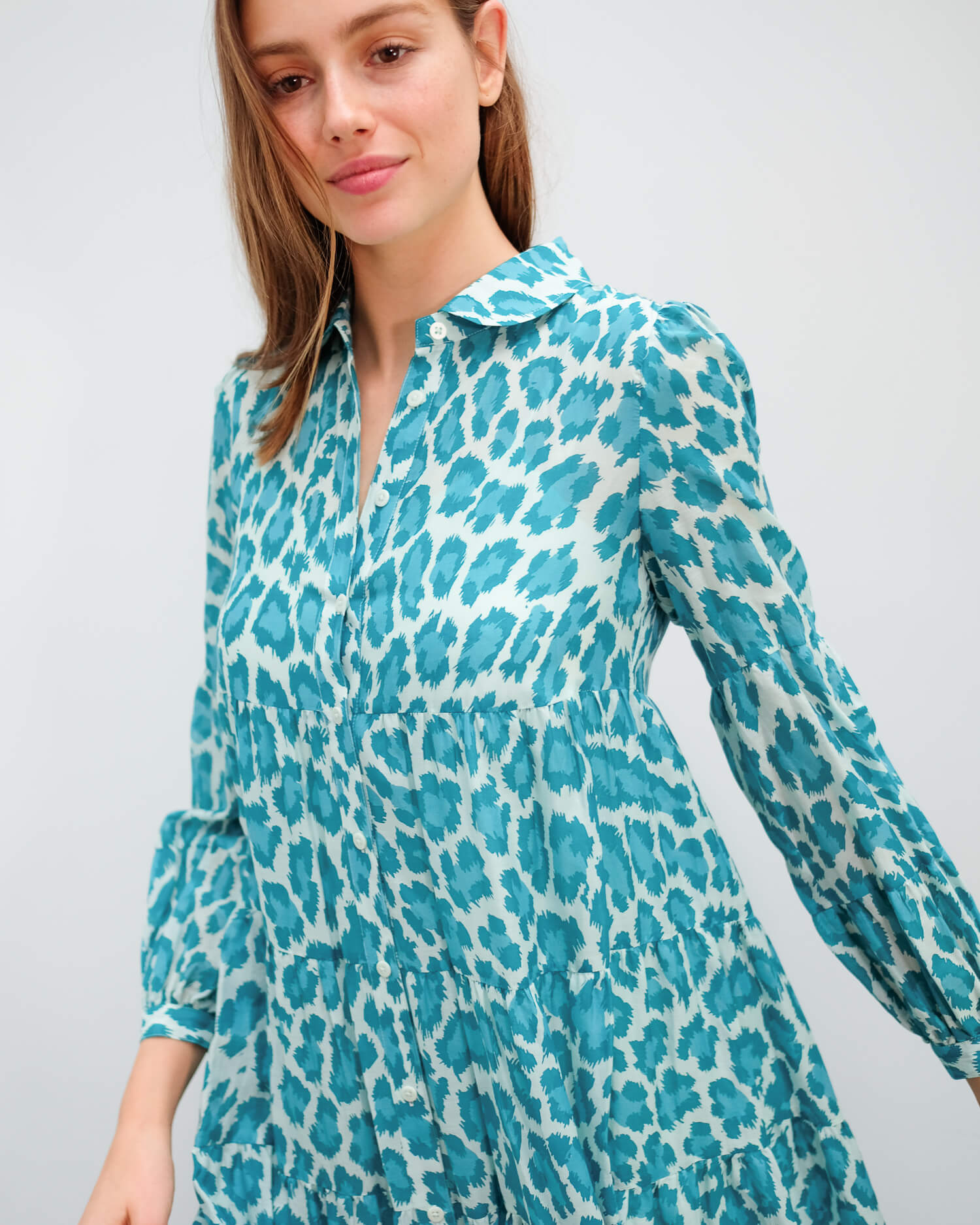 DVF Kiara dress in leopard