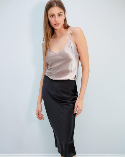 JOSEPH Clea silk top in quartz