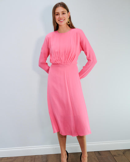 BMB Azolla dress in bubblegum
