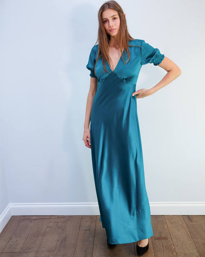 DVF Avianna dress in evergreen