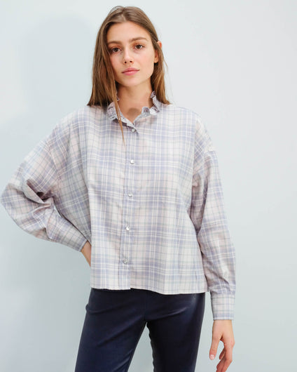 IM Ilaria check shirt in light pink