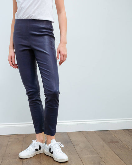 R&B Simone leather pant in royal blue