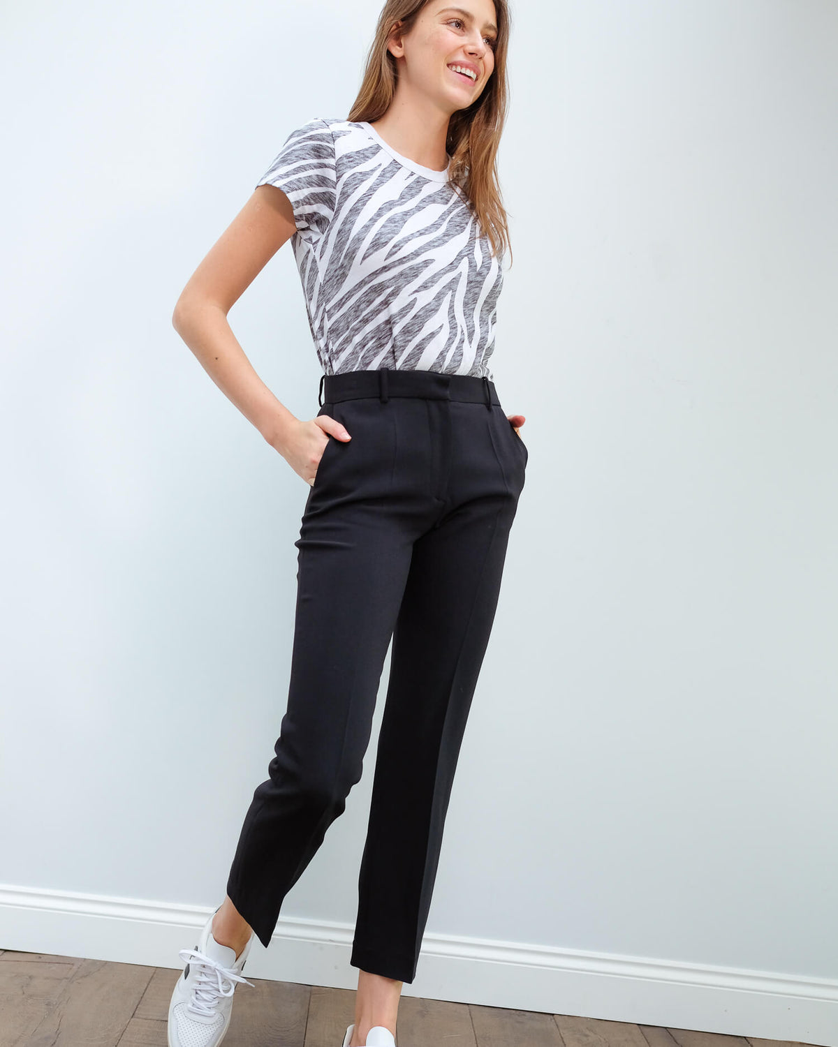 JOSEPH Coleman trouser in black