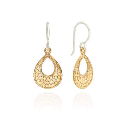 AB ER10089 Small mosaic open drop earring