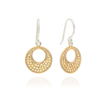 AB ER10098 Mosaic small circle open earrings