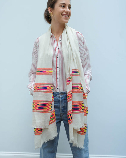 Fab Himalaya scarf in cream
