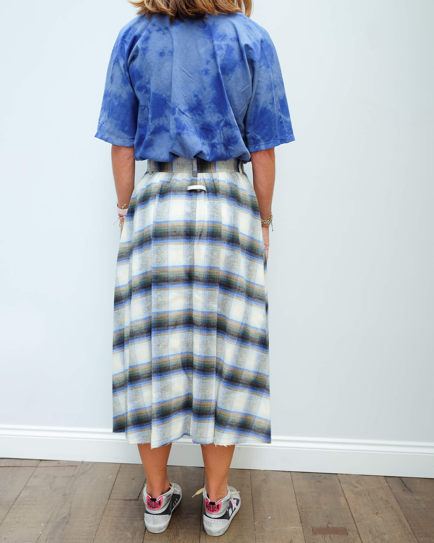 GG Adele skirt in check