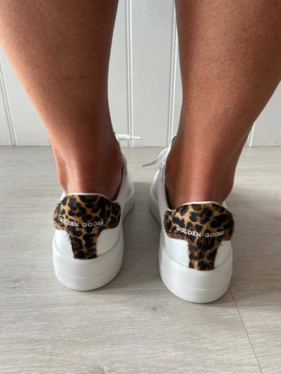GG Pure star 269 in white with leopard heel