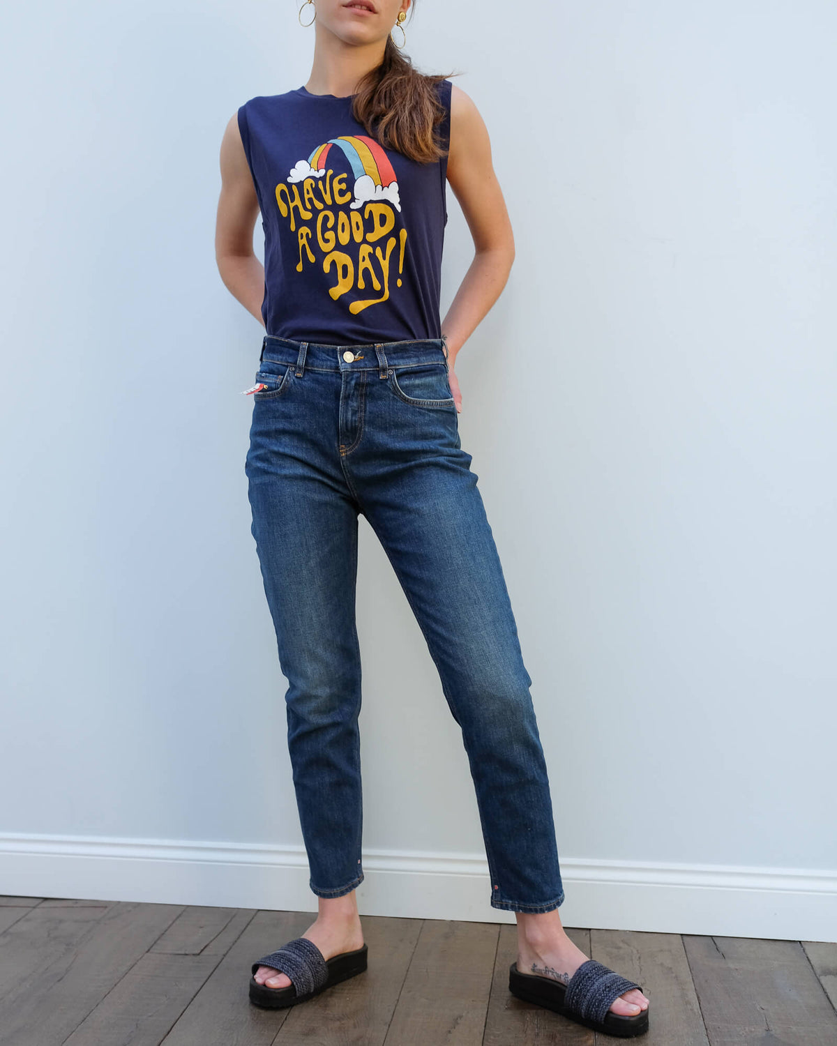 AB 150596 High five lobster lock jeans in blue