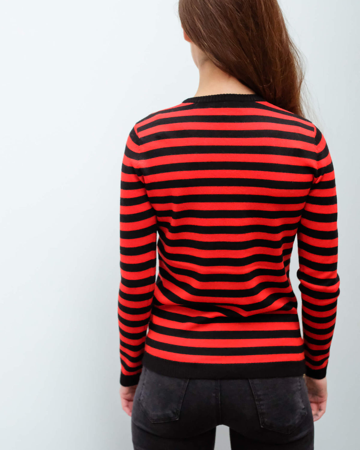 BF 1970 Striped jumper in red