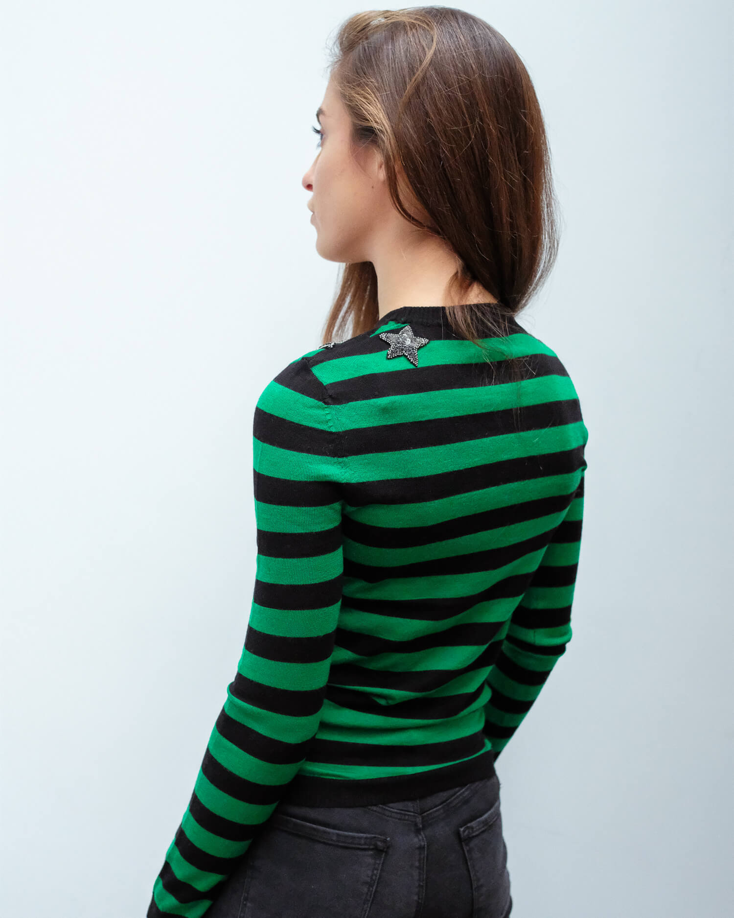 BF Mr Freedom star knit in green