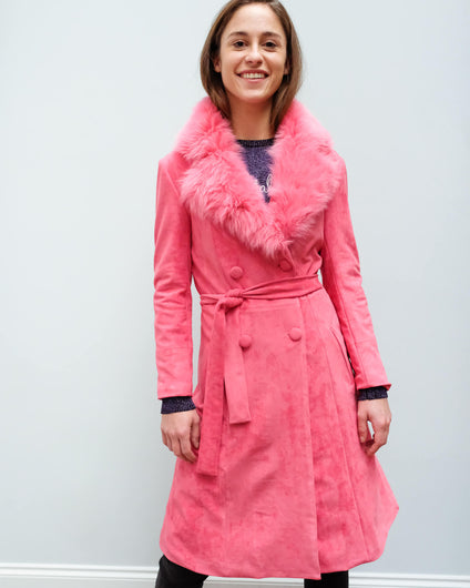 CHS Carrie coat in raspberry pink