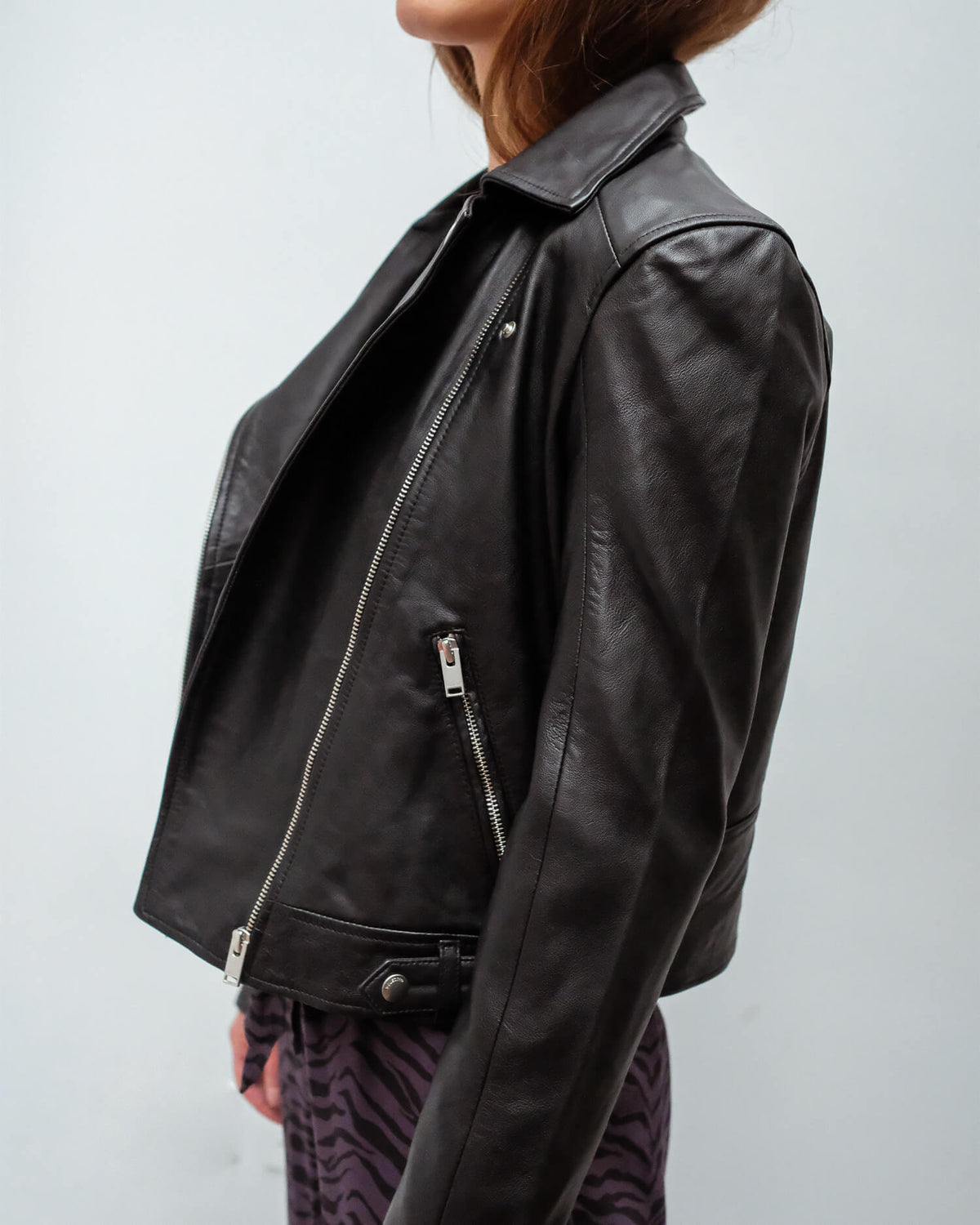SLF Katie leather jacket in black