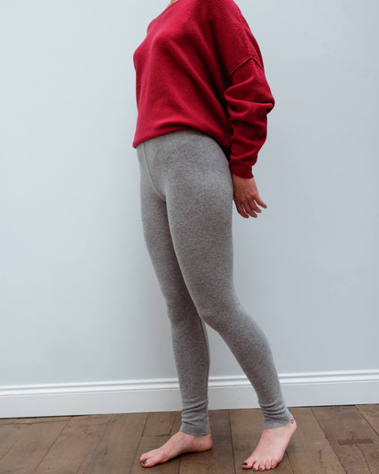 AV VET43 Leggings in grey chine