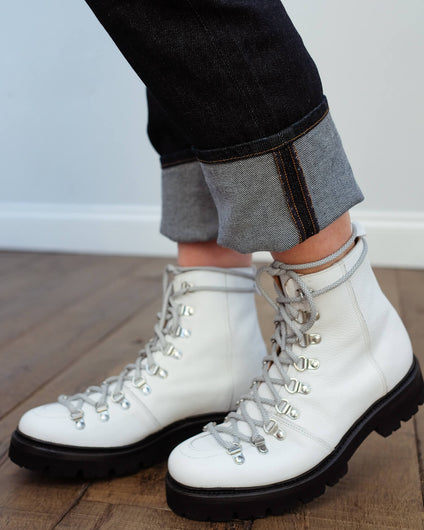 Grenson Nanette ski boot in white softie