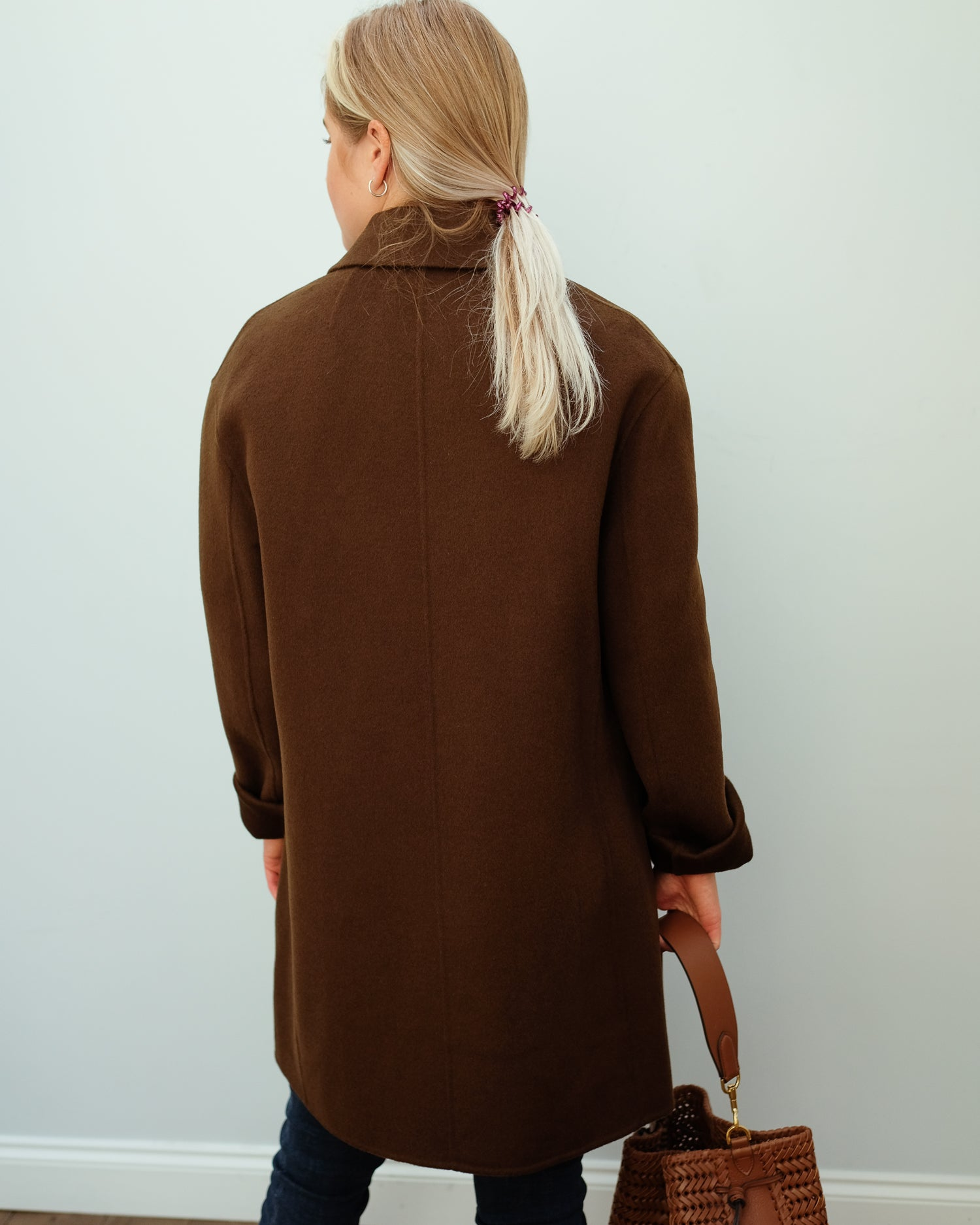 JOSEPH Clavel double face cashmere coat in moss