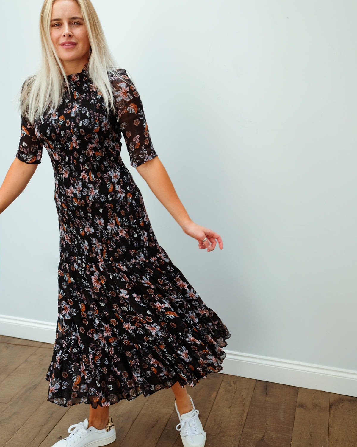 VB Gabi dress in black multi