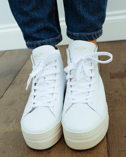SLF Hailey hightop trainer in white