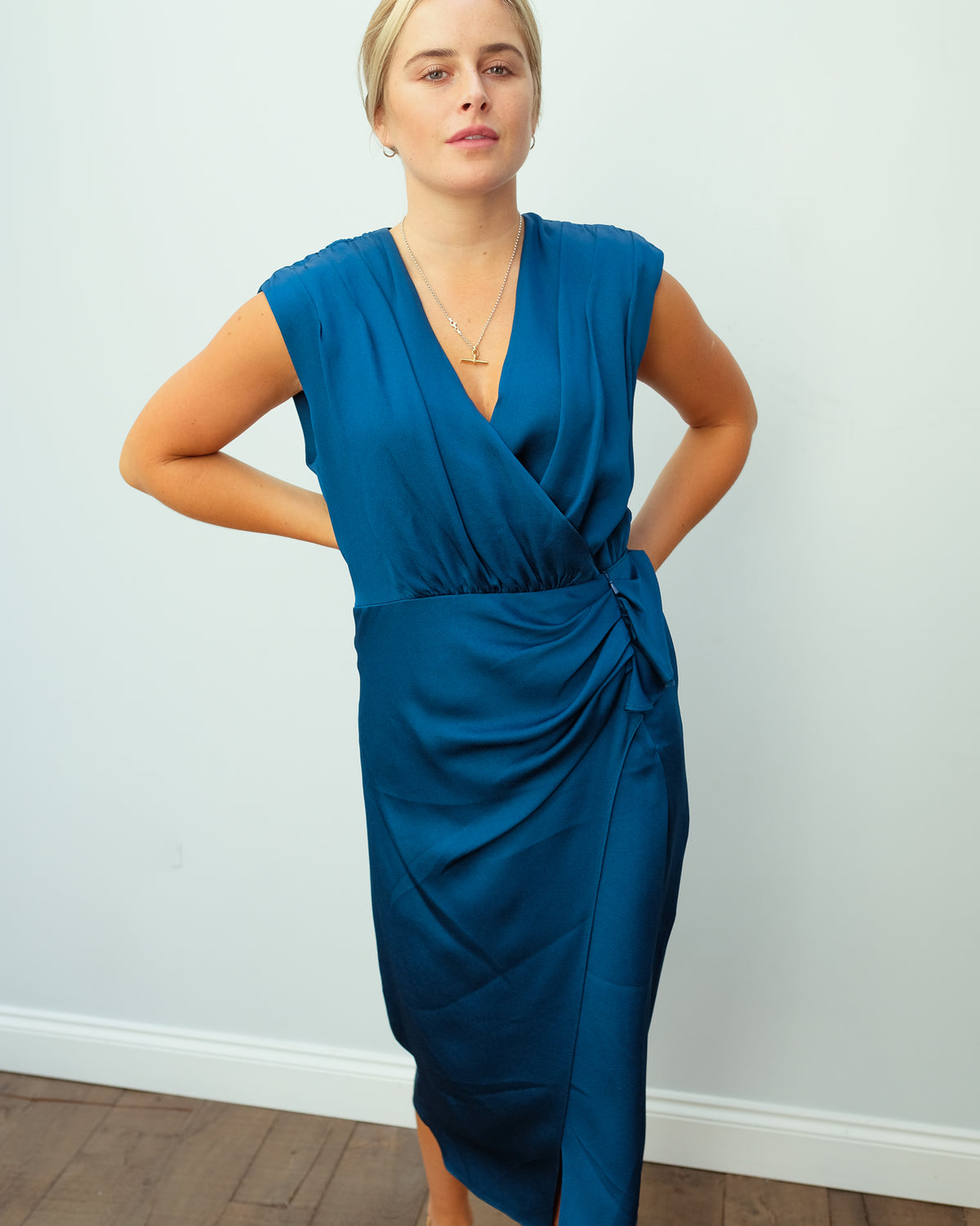 VB Clarissa Dress in Cerulean