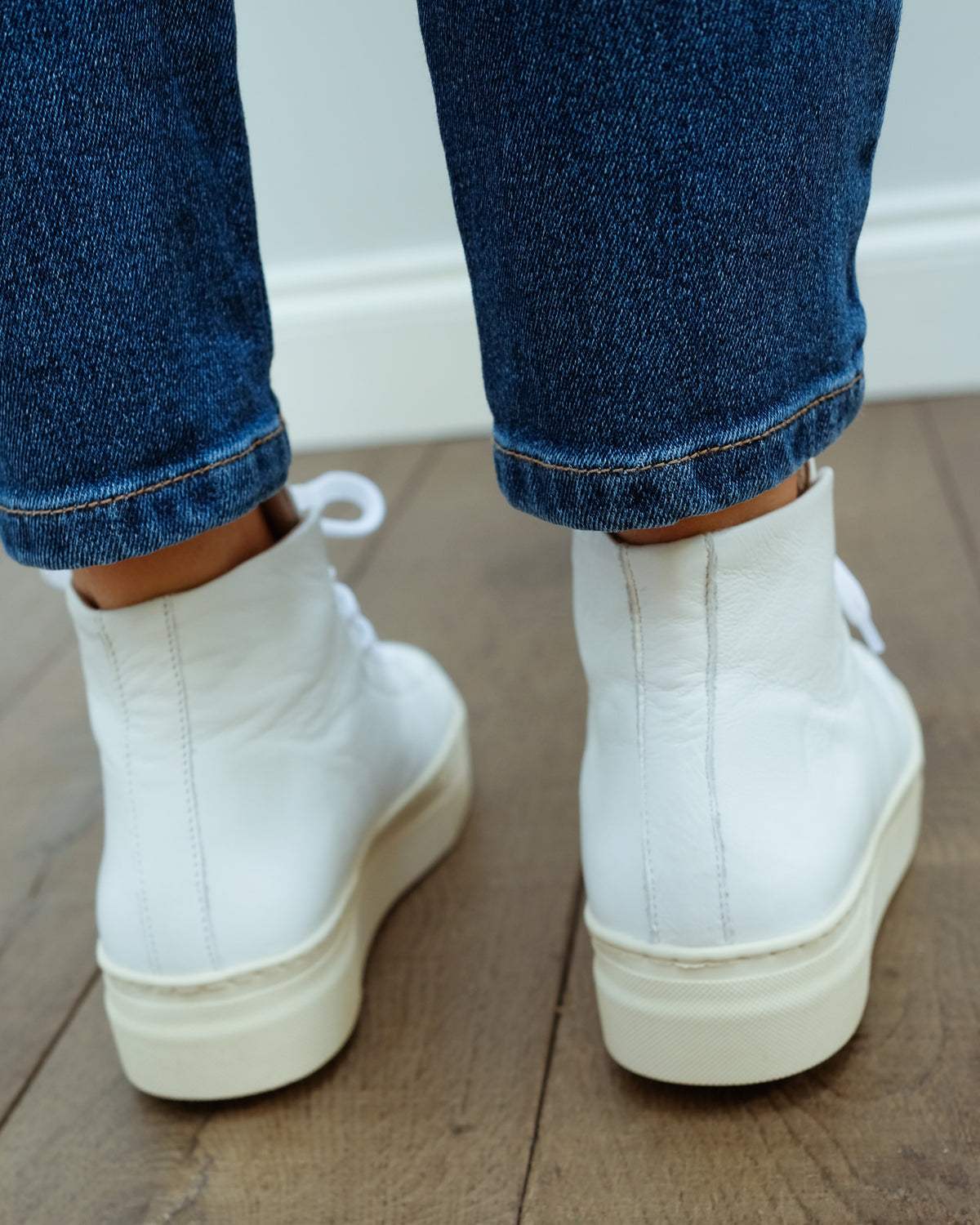 SLF Hailey Hightop Trainers in White