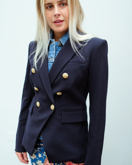 VB Miller Dickey Jacket in Navy